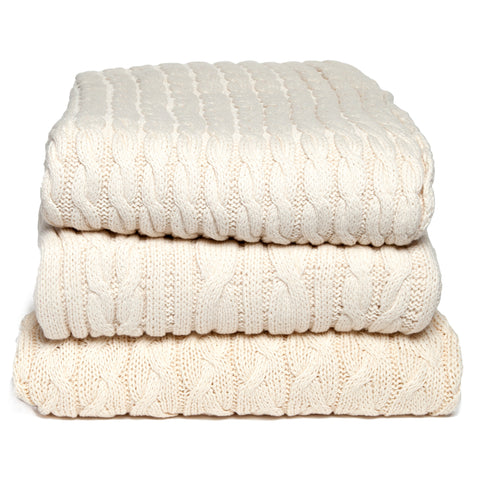 Eco Organic Cotton Cable Throw
