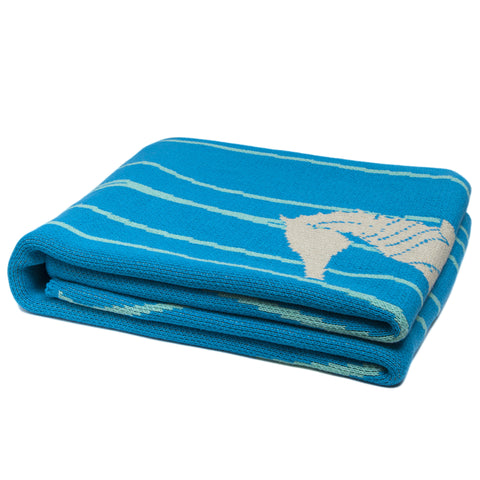 Eco Poly Seagrass Blue Throw