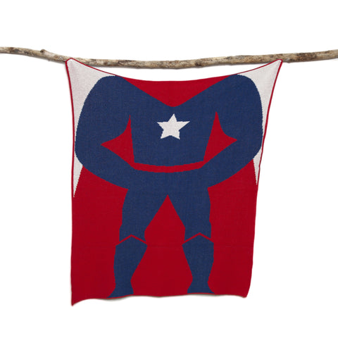 Eco Baby Superhero Boy Throw
