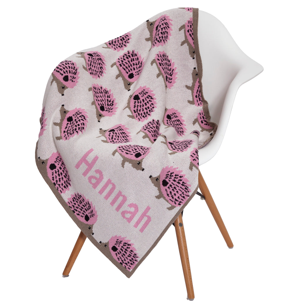 Eco Baby Hedgehog Personalized Throw
