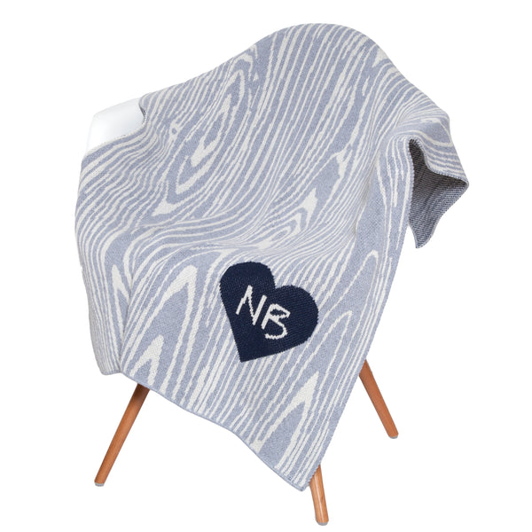 Eco Baby Woodgrain Personalized Throw