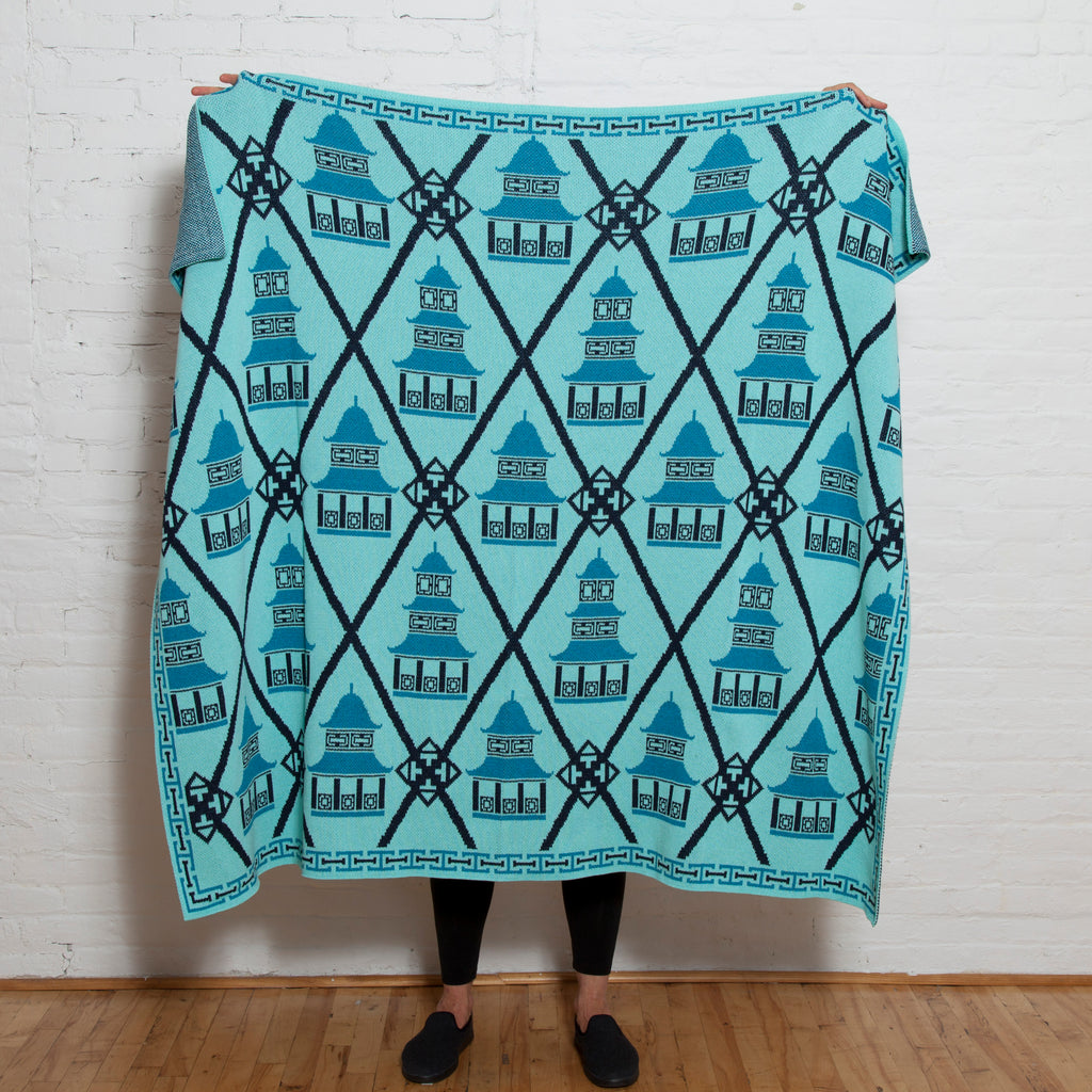 Eco Preppy Pagoda Throw