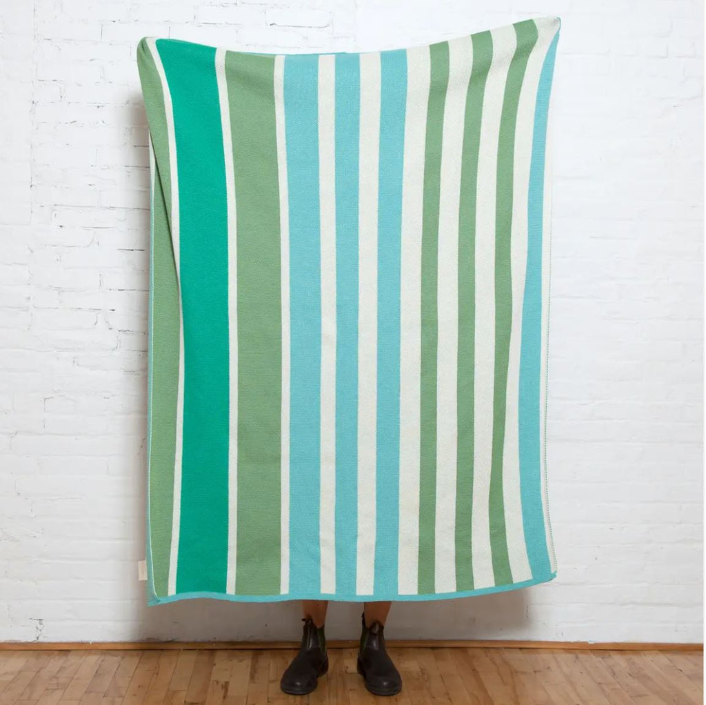 Eco Poly Cabana Stripe Throw by Stacy Garcia