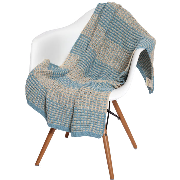 Eco Baby Waffle Knit Throw by Stacy Garcia