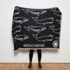 Eco Whales Personalized Throw