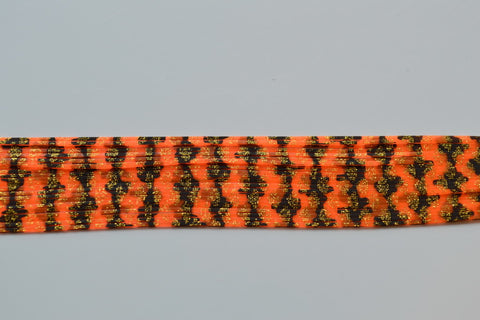 Hot Blaze Orange with Black Barbed Wire and Dark Gold silicon skirting-BW4