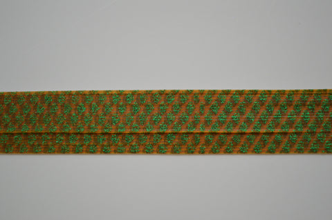 Pumpkin with Green Glitter silicon skirting-NS3