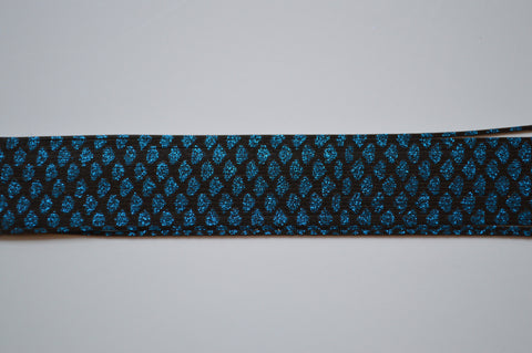 Black with Blue glitter silicon skirting-NS5