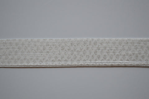 Snow White with Silver Glitter silicon skirting-NS6