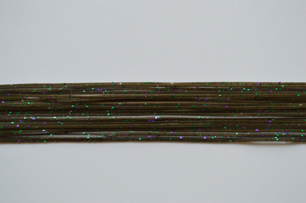 Green Pumpkin with Purple, Green and Black flake silicon skirting-MPF76