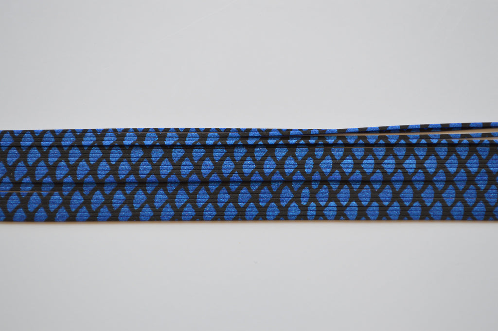 Metallic Blue with Black silicon skirting-FS1