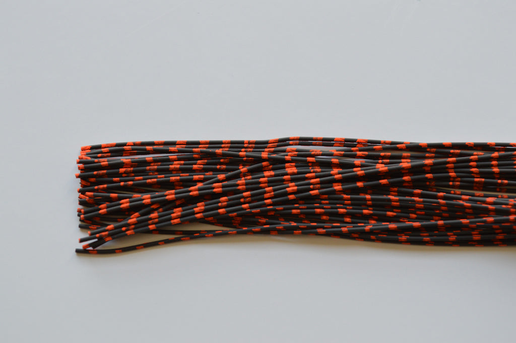 Medium Reptile Rubber Black with Orange Print-A-02