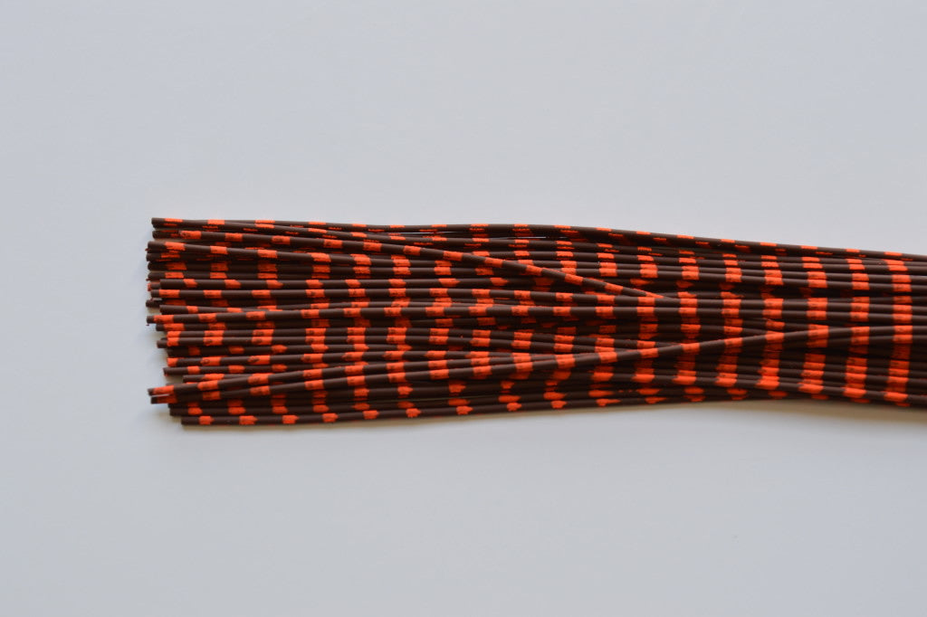 Medium Reptile Rubber Brown with Orange Print-D-02
