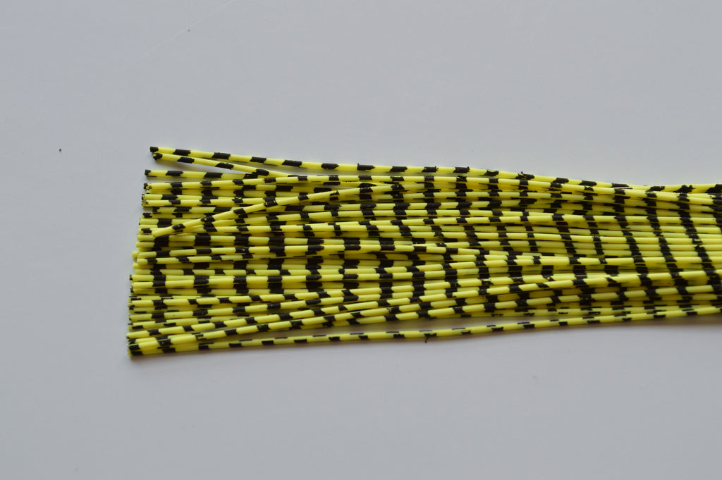 Medium Reptile Rubber Chartreuse with Black Print-C-03