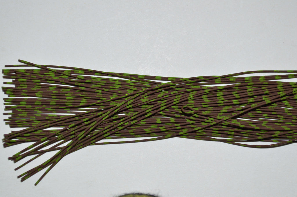 Fine Reptile Rubber Brown with Chartreuse Print-D-06