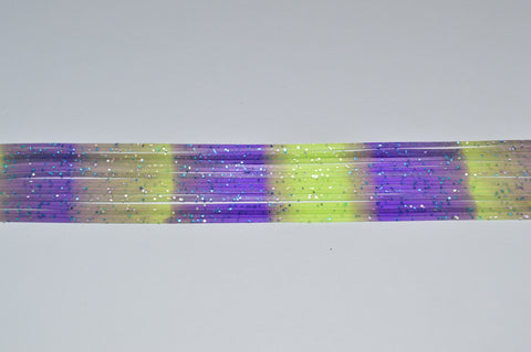 Chartreuse with Silver flake/ Electric Blue Stripe-S11