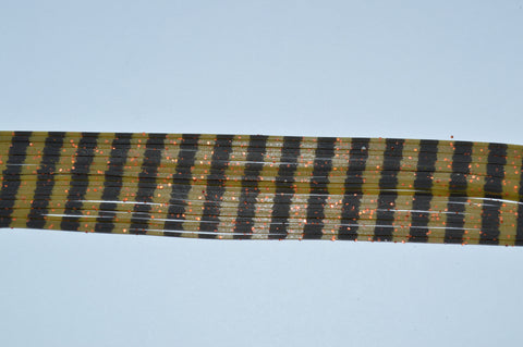 Olive Pumpkin with Orange flake and Black Stripe-S13