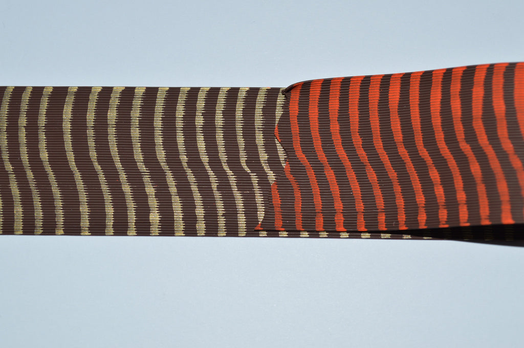 Fine Reptile Rubber Brown with Orange on 1 side and Gold Print on the other-D-02-07