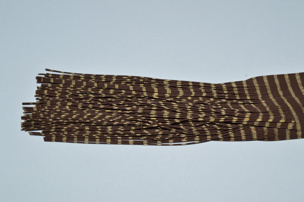 Fine Reptile Rubber Brown with Gold Print-D-07