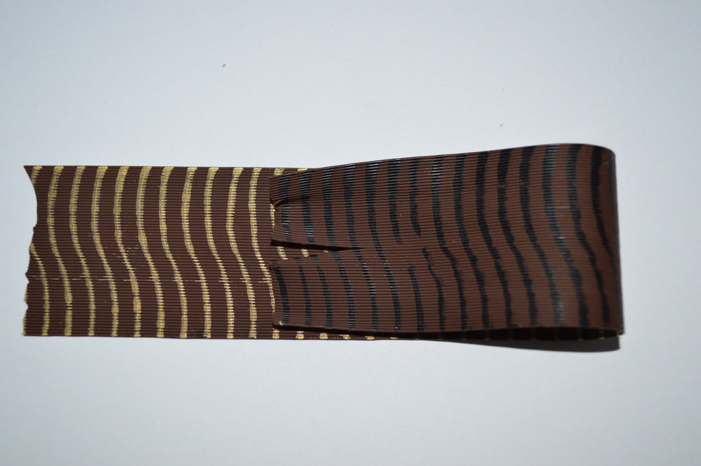 Fine Reptile Rubber Brown with Black on 1 side and Gold Print on the other-D-03-07