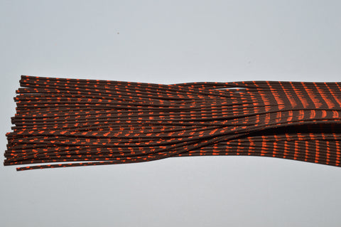 Heavy Reptile Rubber Brown with Orange Print-D-02