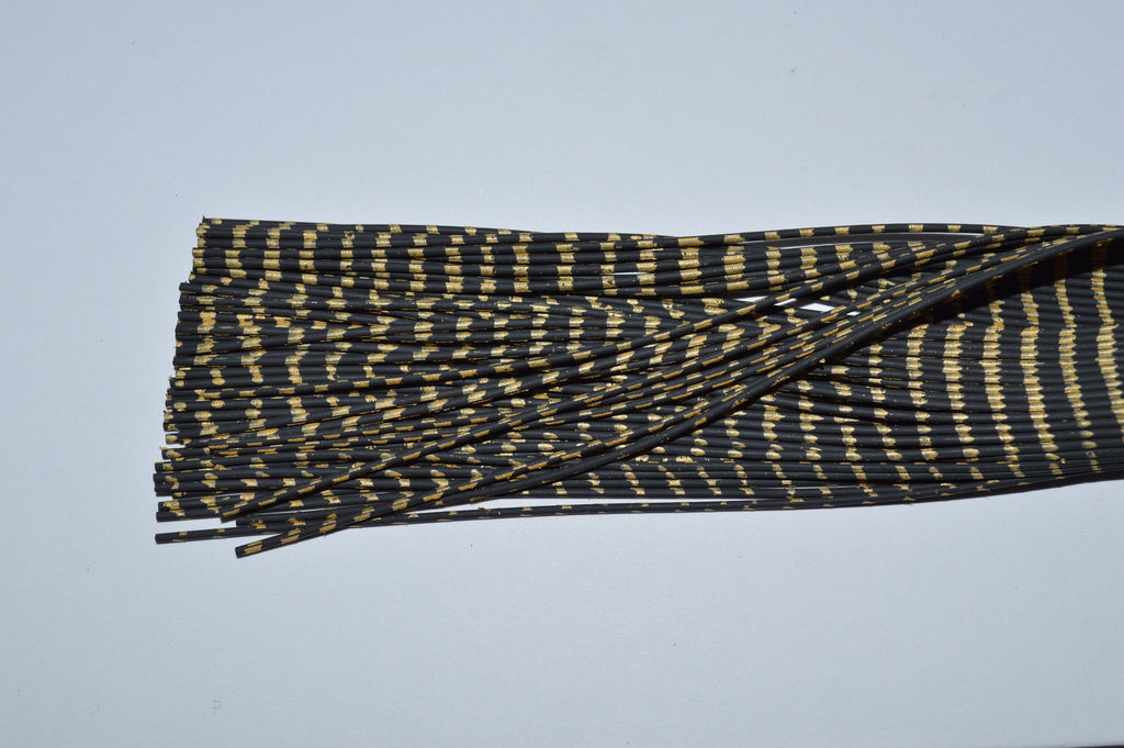 Heavy Reptile Rubber Black with Gold Print-A-07