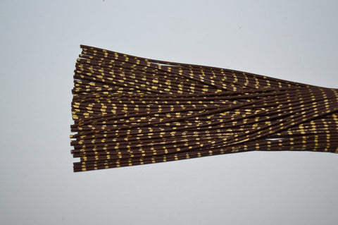 Heavy Reptile Rubber Brown with Gold Print-D-07