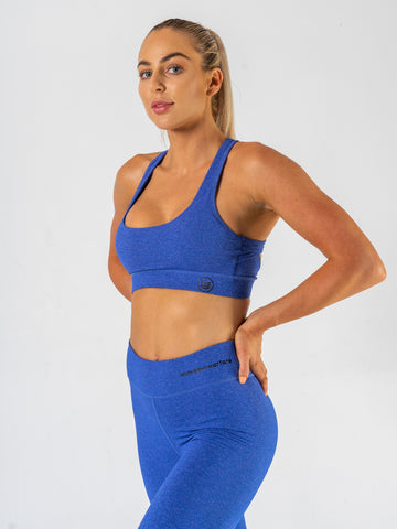 Ladies-U-Sports-Bra-Blue-Front-Shredded-Warfare