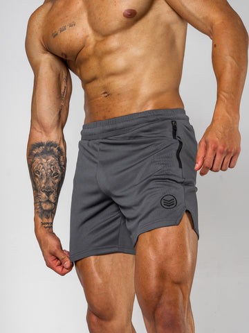 Mens-Mesh-Shorts-Grey-Front-Shredded-Warfare