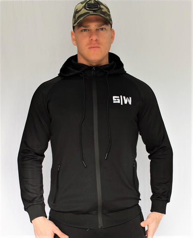 OG Zipper Tracksuit Top - Black