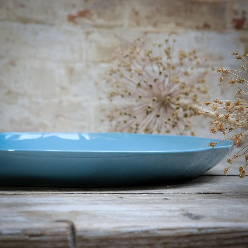 Snape Maltings Ripples Platter Pale Blue Large