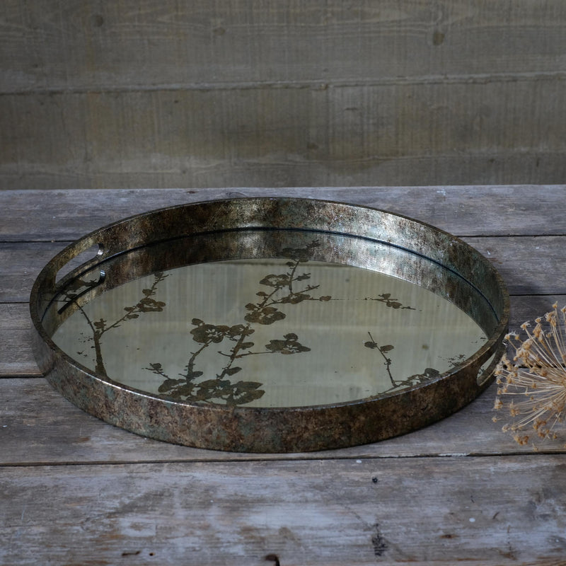 Snape Maltings Mirrored Blosson Gold Tray