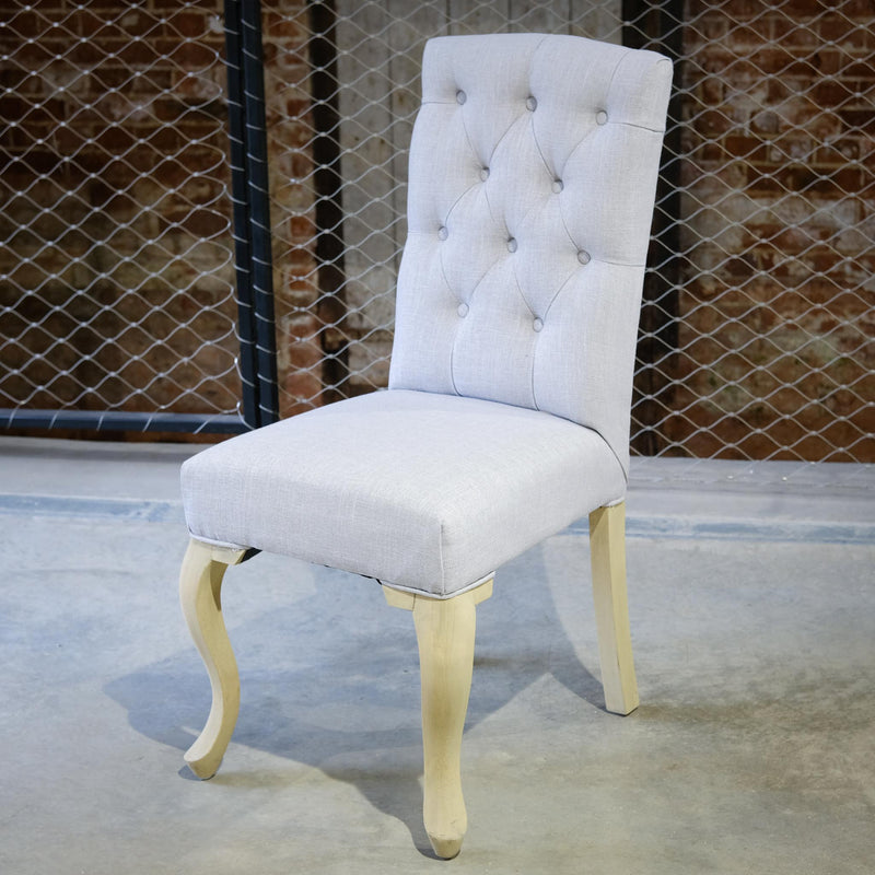 Snape Maltings Southwold Chair in Grey Linen