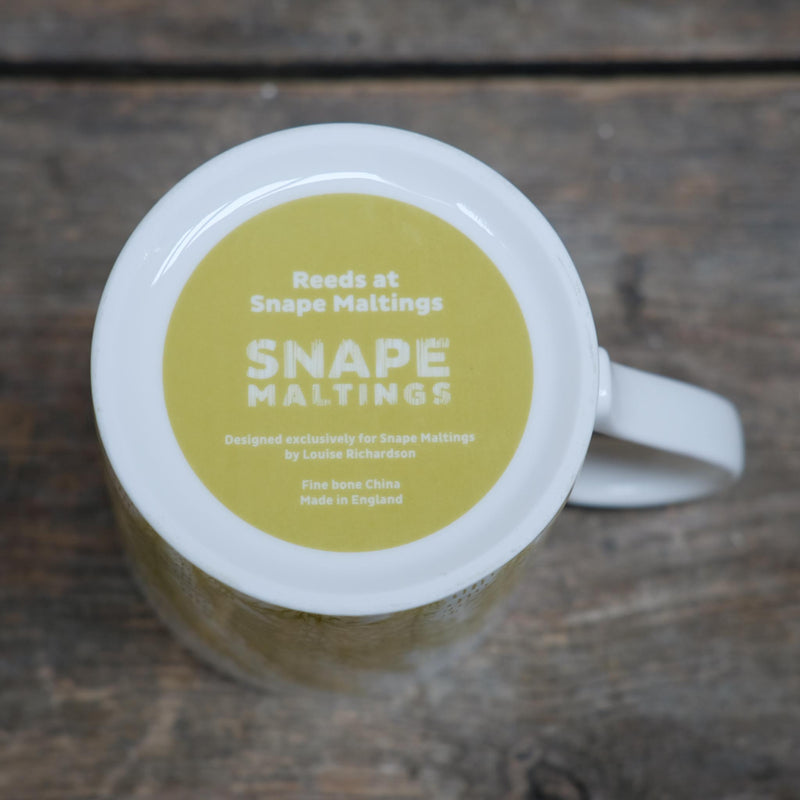 Snape Maltings Collection Green Reed Design Ceramic Mug