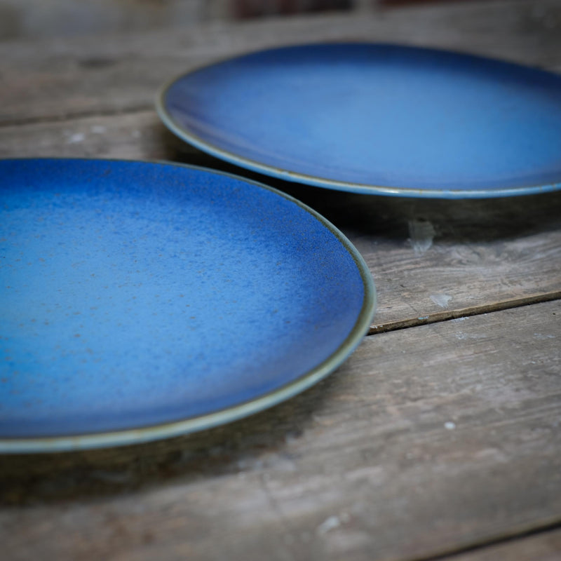 Snape Maltings Sea Spray Azure Large Plate