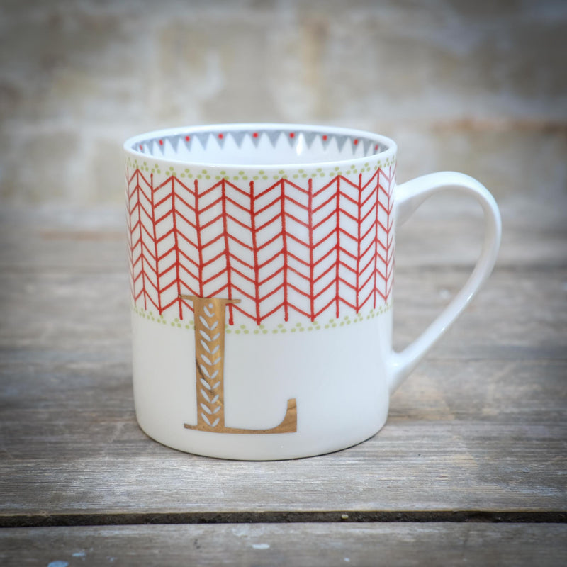 Snape Maltings Alphabet Mug L