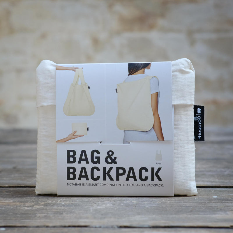 Snape Maltings Reusable Tote and Backpack Hybrid in White