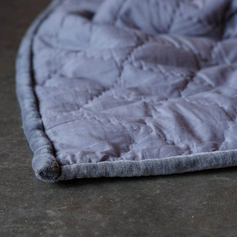 Snape Maltings Nora Grey Velvet Superking Quilt