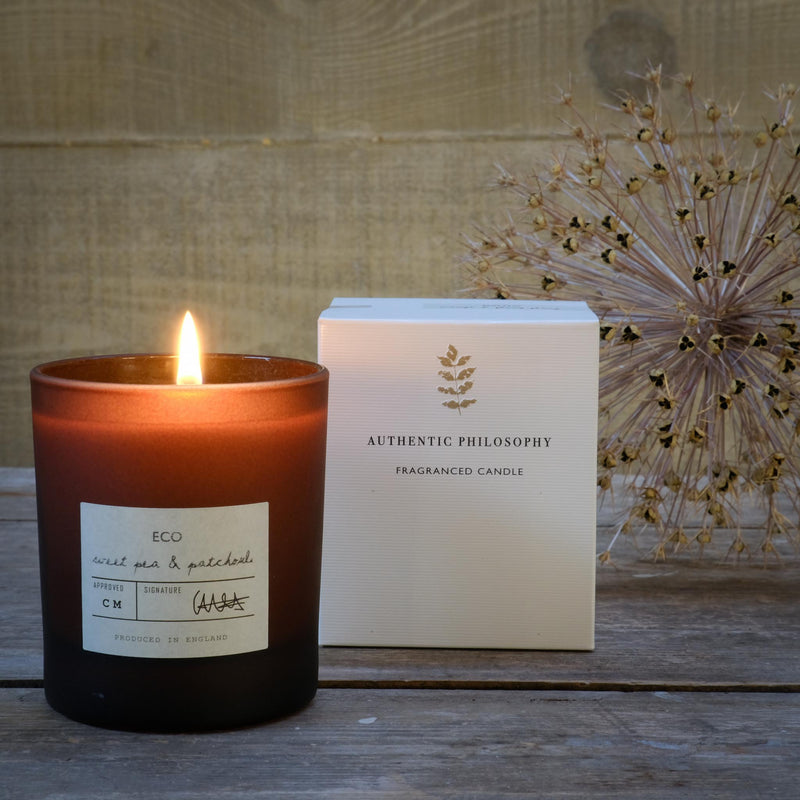 Snape Maltings Auntic Philosophy Sweetpea & Patchouli Scented Candle