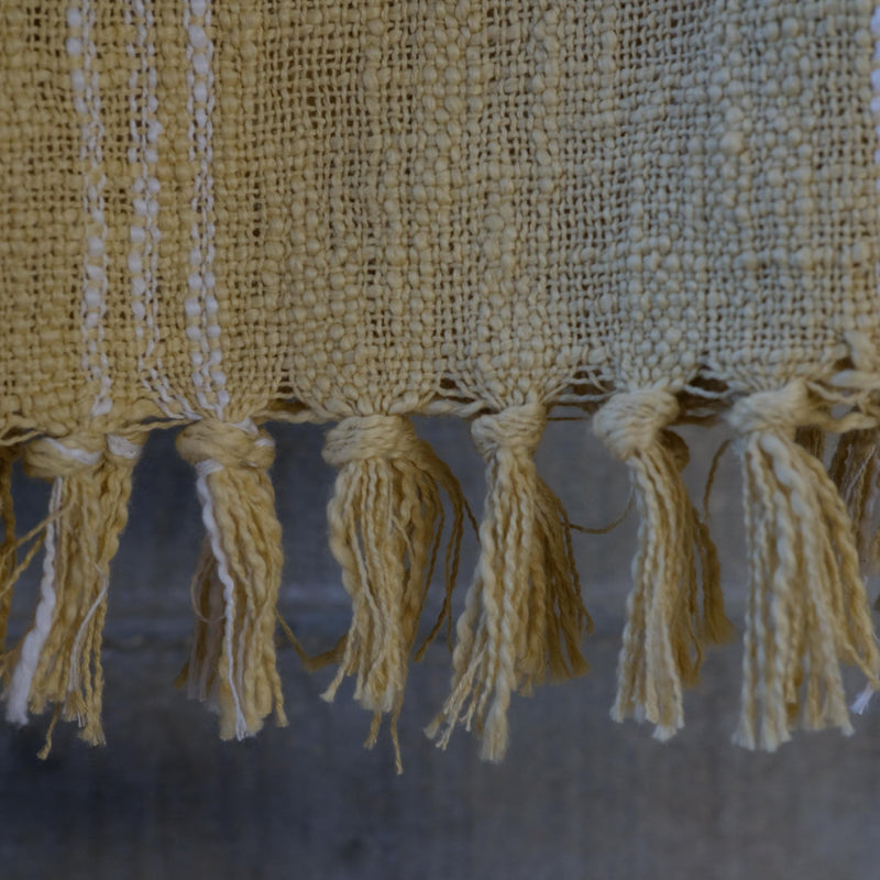 Snape Maltings Handloom Check Throw in Sand