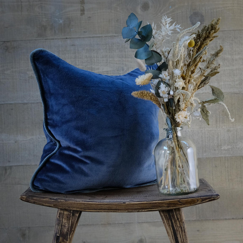 Snape Maltings Large Midnight Velvet Cushion Cover