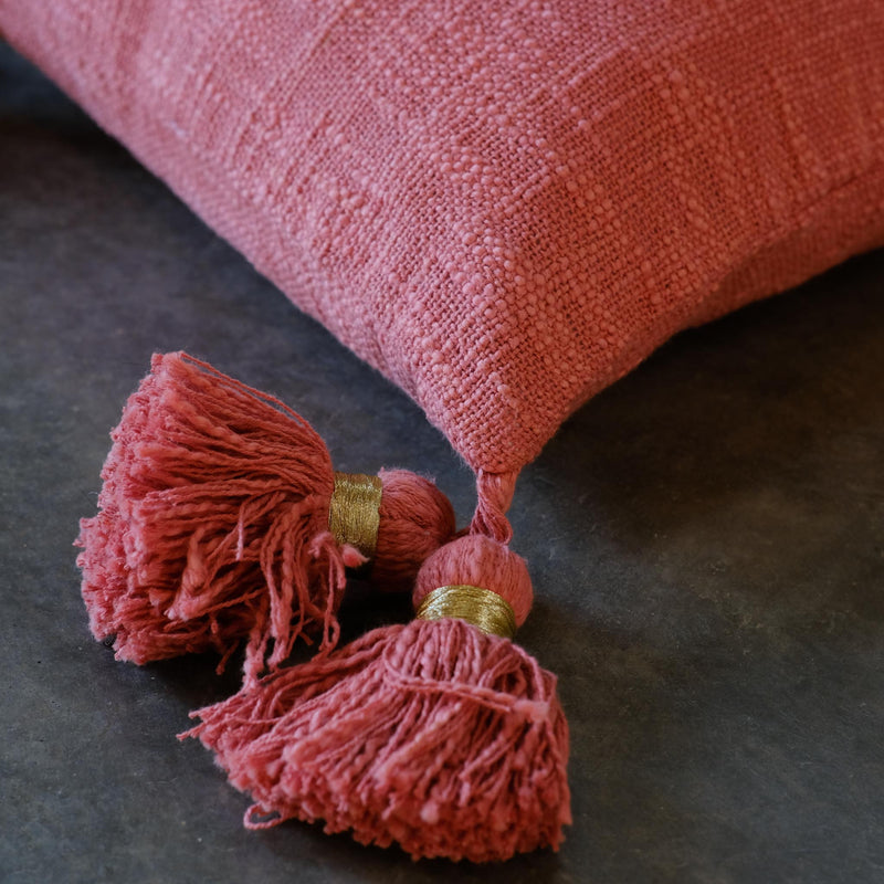 Snape Maltings Terracotta Rose Cushion Cover