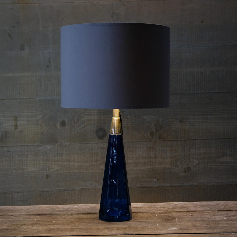 Snape Maltings Deep Blue Glass Lamp