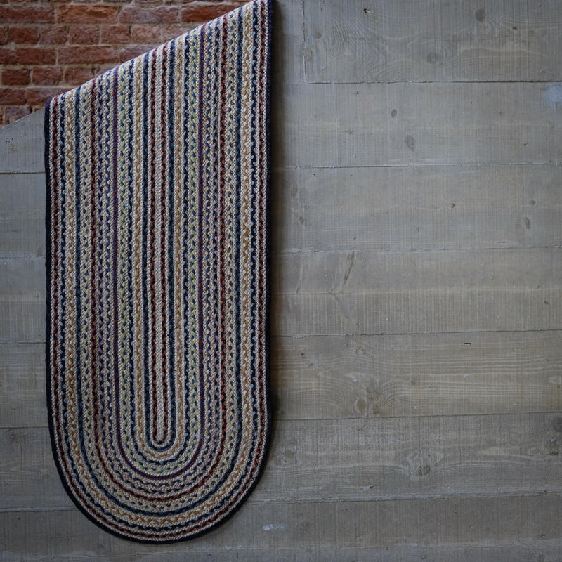Snape Maltings Oval Jute Rug in Fairisle Braid 69cm x 122cm