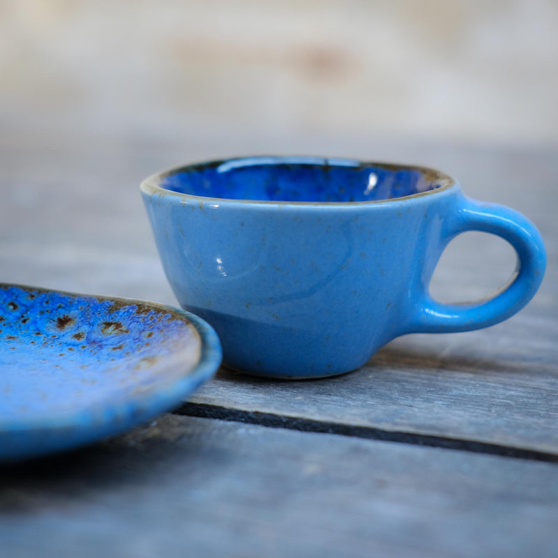Snape Maltings Sea Spray Azure Espresso Cup & Saucer