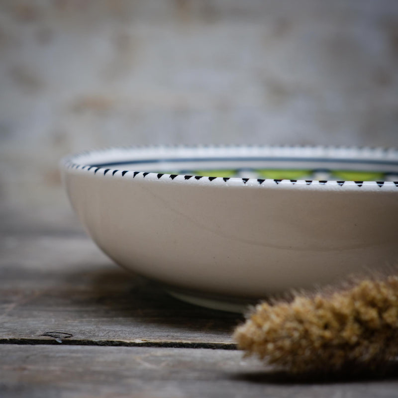 Pistachio Flat Bowl Small