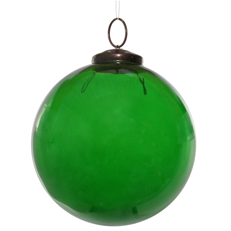 Snape Maltings Large Green Transparent Bauble