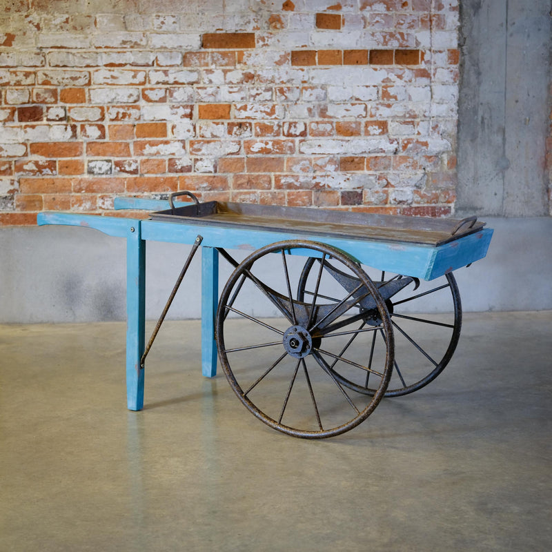 Snape Maltings Fir Turquoise Distressed Cart