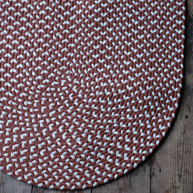 Eco Braid Terracotta Rug 69cm x 122cm