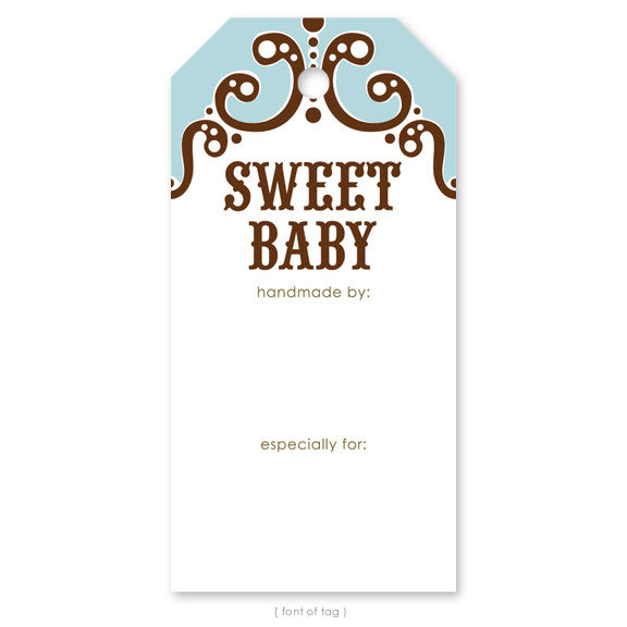 Sweet Baby Blue, Gift Tag